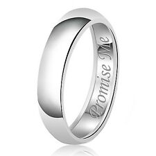 Sterling Silver 925 Solid Couples Promise Me Wedding Band Promise Ring