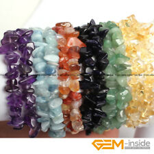 Wholesale Lot Assorted Stones Nugget Freeform Chips Beaded Stretchy Bracelet 7""