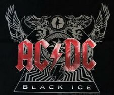 New Mens ACDC AC/DC Official Black Ice Tour Singlet T Shirt Top, Size 2XL
