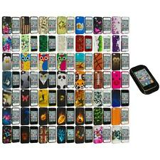 Design Hard Rubberized Color Snap-On Case Cover+Sticky Pad for iPhone 4 4S 4G