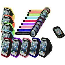 Color Premium Full Running Sports Gym Armband Case+Sticky Pad For iPhone 5 5S
