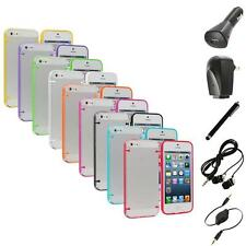 Color Clear Robot Crystal Hard Snap-On Case Cover+Accessories for iPhone 5 5S