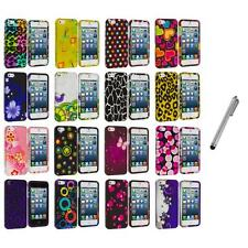 Color Design Hard Snap-On Rubberized Case Cover+Metal Pen for iPhone 5 5S
