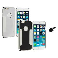 For Apple iPhone 6 (4.7) Brushed Aluminum Metal Hard Case Cover Mini Stylus