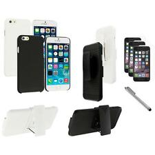 For Apple iPhone 6 (4.7) Belt Clip Holster Case+3X Screen Protector+Pen