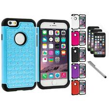 For Apple iPhone 6 (4.7) Hybrid Diamond Case+3X Screen Protector+Pen