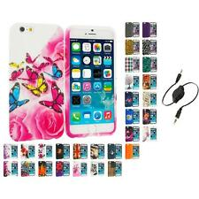 For Apple iPhone 6 (4.7) TPU Design Soft Case Cover Skin Aux Cable