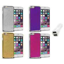 For Apple iPhone 6 (4.7) Metal Bling Glitter Shiny Case Cover Car Charger