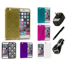 For Apple iPhone 6 PLUS Vintage Damask Lace TPU Case Cover Charger+Stylus