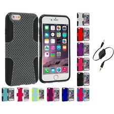 For Apple iPhone 6 Plus (5.5) Hybrid Mesh Shockproof Case Cover Aux Cable