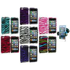 Zebra Hard Case Cover Accessory+Windshield Mount for iPod Touch 4th Gen 4G 4