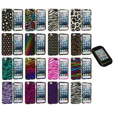 Zebra Polka Dot Hard Design Case Cover+Sticky Pad for iPod Touch 5th Gen 5G