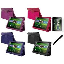 PU Leather Folio Pouch Case Cover Stand+LCD Film+Stylus for Blackberry Playbook