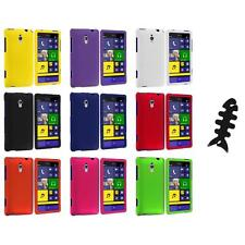 For HTC Windows Phone 8XT Color Hard Snap-On Rubberized Case Cover+Cable Wrap