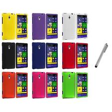 For HTC Windows Phone 8XT Color Hard Snap-On Rubberized Case Cover+Metal Pen