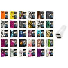 For HTC Desire 601 Zara Hard Design Case Cover Car Charger