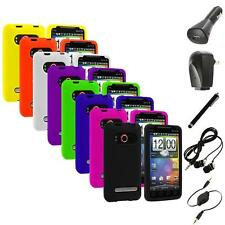 Color Silicone Gel Soft Case Cover+Accessories for HTC Sprint EVO 4G Accessory