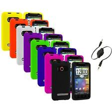 Color Silicone Gel Soft Case Cover+Aux Cable for HTC Sprint EVO 4G Accessory