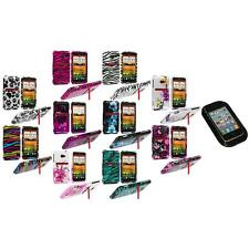 Design Hard Snap-On Case Cover Accessory+Sticky Pad for HTC EVO 4G LTE Sprint