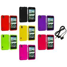Color Hard Snap-On Case Cover+Headphones for LG Optimus Black P970 / Marquee