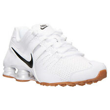 Nike Shox Current PREMIUM  Men's Running Shoes White/Gum New Mens Shoes Size 13