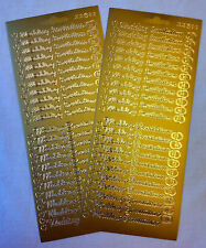 Peel Off Wedding Invitation Stickers - Two Sheets in Gold or Silver