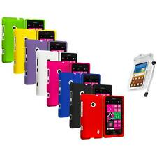 For Nokia Lumia 521 Snap-On Hard Rubberized Matte Case Cover Waterproof Bag