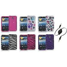 Color Bling Diamond Rhinestone Case Cover+Aux Cable for Pantech Discover P9090