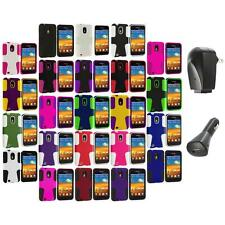 Hybrid Mesh Case Cover+2X Chargers for Samsung Sprint Galaxy S2 S II Epic Touch