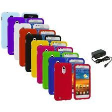Color Hard Case Cover+Wall Charger for Samsung Sprint Galaxy S II S2 Epic Touch