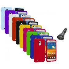Color Hard Case Cover+Car Charger for Samsung Sprint Galaxy S II S2 Epic Touch