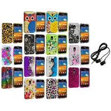 Design Hard Rubberized Case Cover+Headphones for Samsung Sprint Galaxy S2 S II