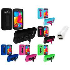 For Samsung Galaxy Avant G386 Hybrid Armor Case Cover Stand Car Charger