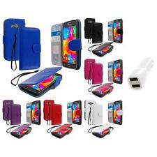 For Samsung Galaxy Avant G386 Wallet Flip Pouch Case Cover Car Charger