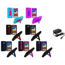 Hybrid Case Cover Stand+Wall Charger for Samsung Attain Galaxy S2 II i9100