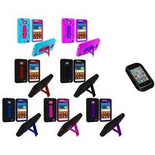 Hybrid Case Cover Stand+Sticky Pad for Samsung Attain Galaxy S2 II i9100