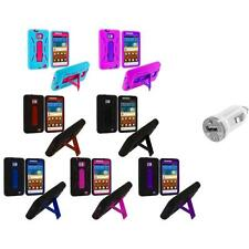Hybrid Case Cover Stand+USB Charger for Samsung Attain Galaxy S2 II i9100