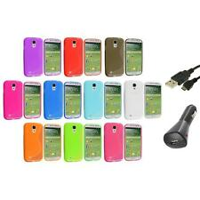 Color S-Line TPU S-Shape Case Cover+Charger+USB for Samsung Galaxy S4 SIV i9500