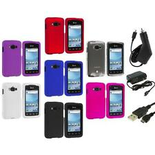Color Hard Snap-On Skin Case Cover+3X Chargers for At&t Samsung Rugby Smart i847