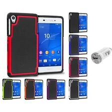For Sony Xperia Z3 Hybrid Shockproof Armor Rugged Case Cover USB Charger