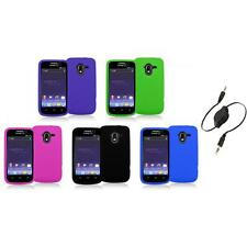 Color Silicone Rubber Gel Soft Skin Case Cover+Aux Cable for ZTE Avid 4G N9120