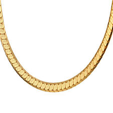 Stunning Chain Necklaces 18K Gold/Platinum Plated 22 inch 8mm Men Jewelry Gifts