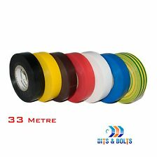 Electrical PVC Insulation Tape 33m x 19mm Insulating - 33m LARGE ROLLS