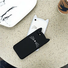 Cute Cartoon 3D Cat Soft Silicone Phone Case Cover for iPhone X 5 6S 7 8 Plus
