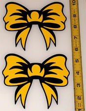 Ribbon Bow - Set of 2 HQ 2 Color High Gloss Color on Black Vinyl Decals!