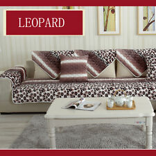 Removable Luxury Leopard Lounge Couch Set Sofa Cover 1 Seater 2 Seater 3 Seater