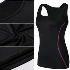 Womens Sports Shirt Seamless Yoga Gym Athletic Tank Vest S-XXL Workout  Top W97