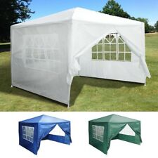 10'x10' Outdoor Party Wedding Tent Patio Gazebo Canopy w/4 Side Walls Color Opt.
