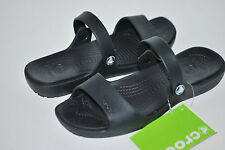 NWT NEW CROCS CORETTA CLEO BLACK sandals slides shoe 6 7 8 9 10 11 women's