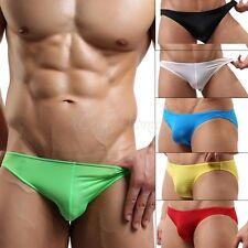NEW Sexy Mens Stretch Smooth Brief Underwear Bulge Pouch Trunks Bikini Swimwear